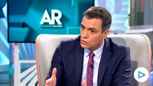 Pedro Sánchez, en el programa de Ana Rosa.