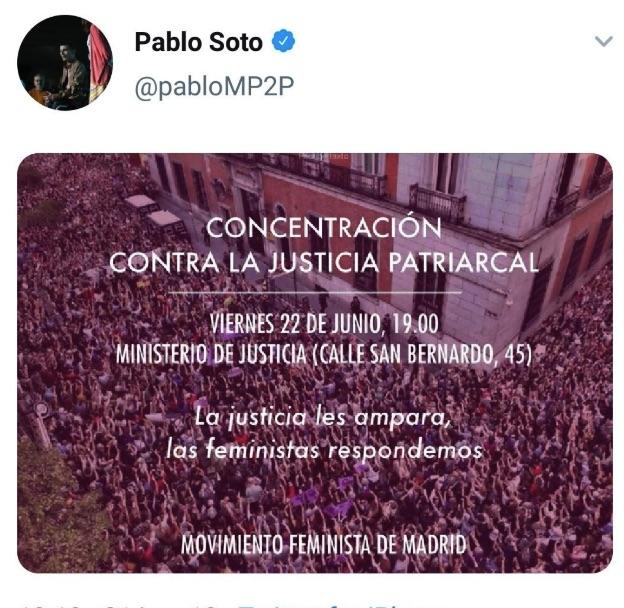 Tuit de Pablo Soto