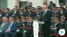 Félix Azón, director de la Guardia Civil, durante su discurso en Cataluña.