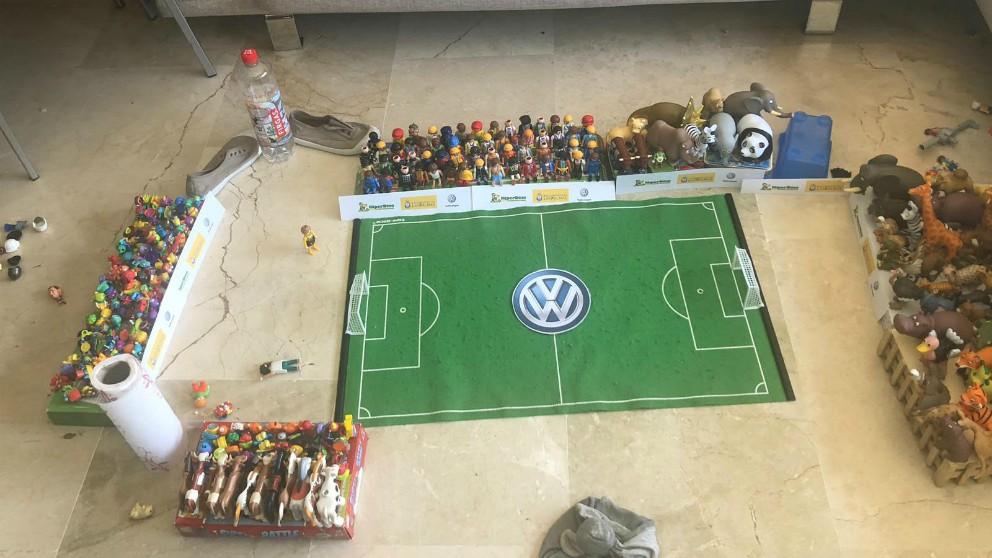 La recreación del Estadio de Gran Canaria de un niño de 8 años.