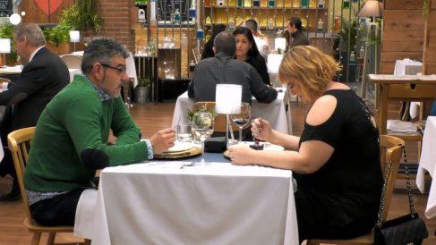David y Eugenia en 'First Dates'