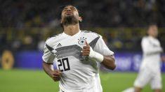 Gnabry, durante un partido. (AFP)