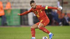 Eden Hazard durante el Bélgica – San Marino. (AFP)