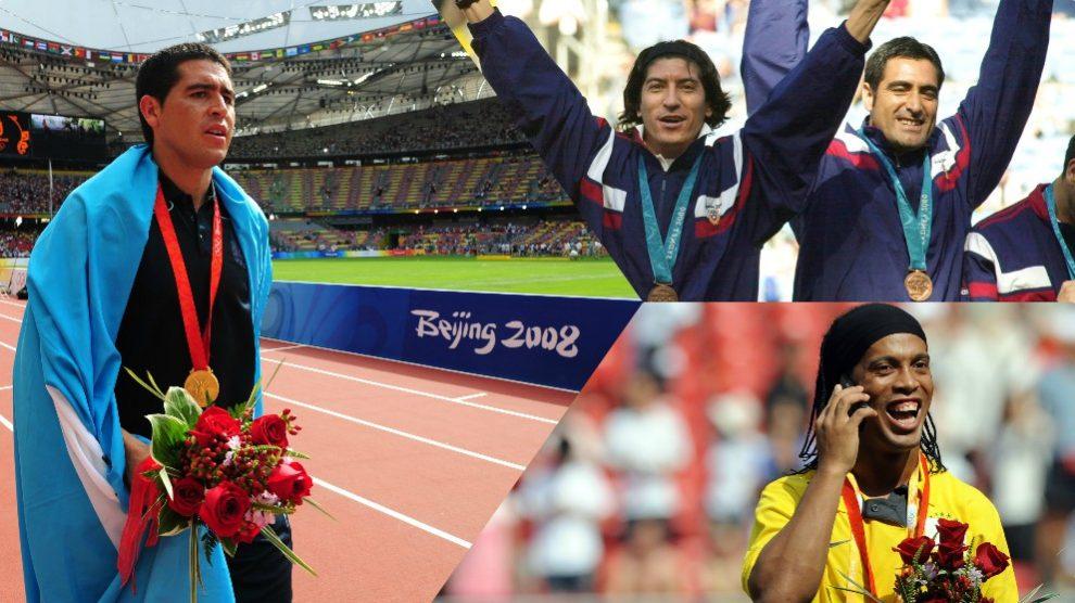 Juan Román Riquelme, Iván Zamorano y Ronaldinho.