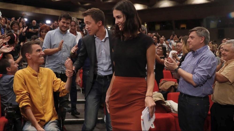 Pablo Soto, Íñigo Errejón y Rita Maestre en la presentación de Más País.