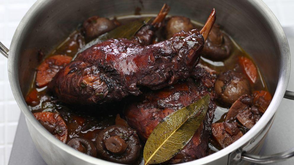 Receta de Conejo en salsa de chocolate