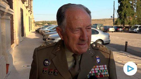 El ex director del CNI, Félix Sanz Roldán, este jueves en el Monasterio de Uclés.