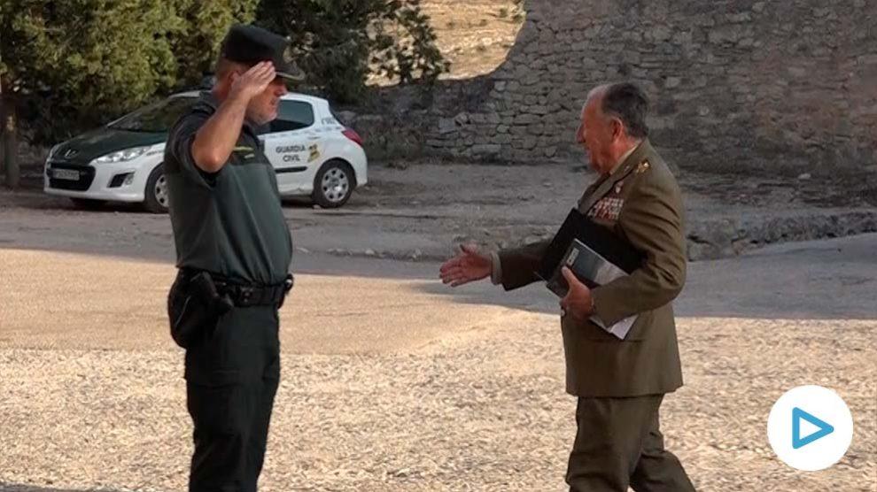El ex director del CNI, Félix Sanz Roldán, este jueves en el Monasterio de Uclés (Cuenca).