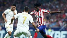 Thomas Partey, centrocampista del Atlético, ante el Real Madrid (@Thomaspartey22)