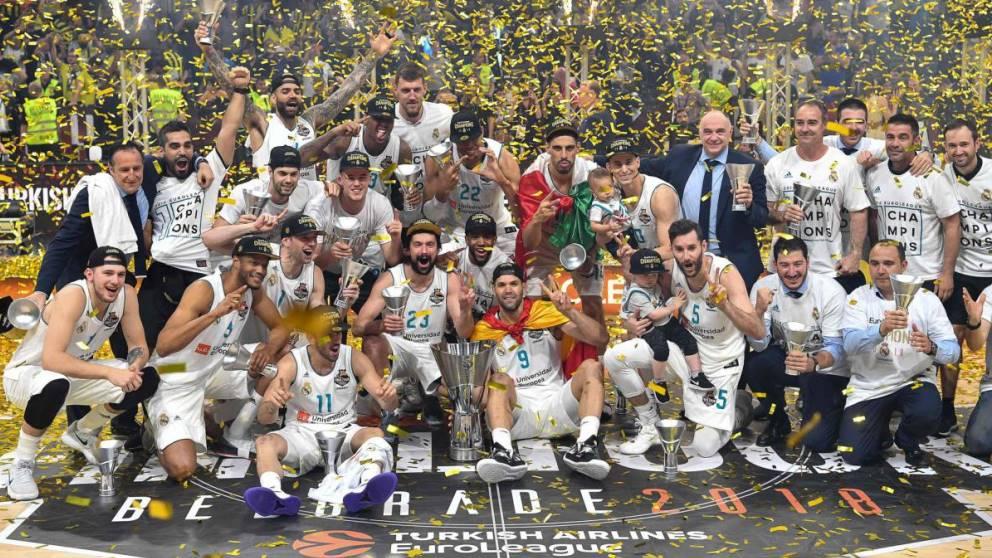 El Real Madrid ha levantado más Euroligas que ningún otro equipo