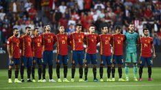 La-selección-española-antes-del-último-encuentro-ante-Islas-Feroe-en-El-Molinón-(Getty)