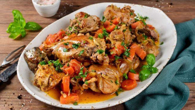 Receta de conejo al horno con verduras