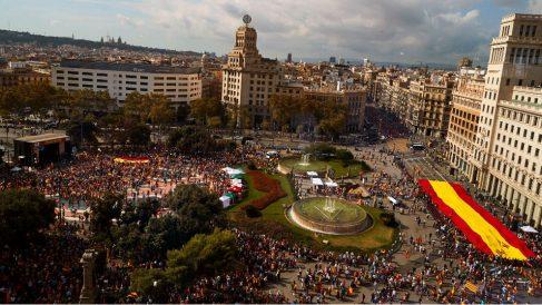 Manifestación en Barcelona. Foto: EFE