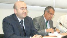 El secretario del Ayuntamiento de Oropesa, José Luis Silvente, y el ex alcalde Rafael Albert.