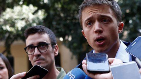 El líder de Más País, Íñigo Errejón, durante la presentación de la candidatura de Més Barcelona para la próximas elecciones del 10-N, encabezada por Juan Antonio Geraldes. Foto: EFE