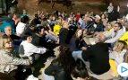 Separatistas se concentran en la puerta de la cárcel de Lledoners a la espera de la sentencia del 1-0