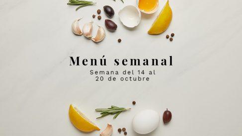 Menú semanal saludable: Semana del 14 al 20 de octubre de 2019