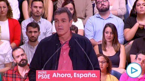 Pedro Sánchez este domingo en Alcorcón (Foto: EFE).