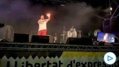 Pablo Hasel en el festival Mur, en Mallorca.