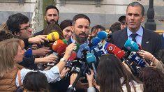 Primeras declaraciones de Abascal tras conocerse la sentencia del procés. (Foto: Francisco Toledo)