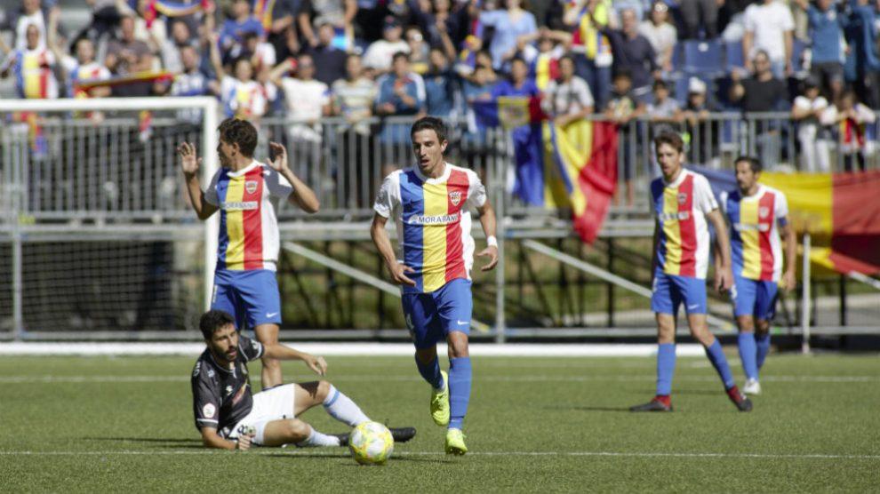 El Andorra en un partido contra el Hércules (@Fcandorra)