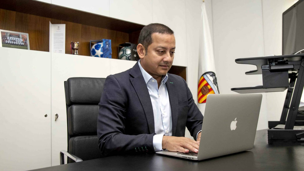 Anil Murthy, presidente del Valencia (Valencia Club de Fútbol)