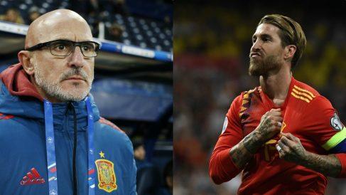 Luis de la Fuente y Sergio Ramos.