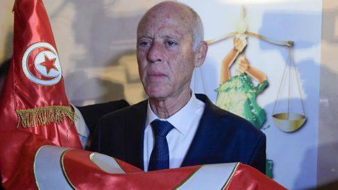 Kaid Saied, presidente de Túnez. (Afp)