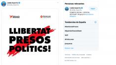 El Lleida pide la libertad de los políticos presos.