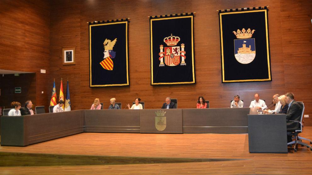 El Pleno municipal del Ayuntamiento de Oropesa del Mar (Castellón).