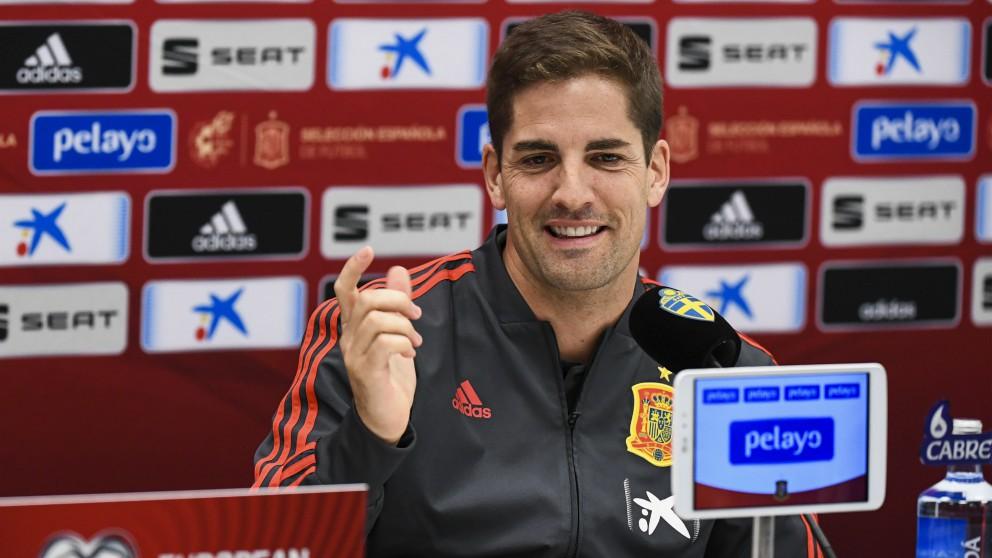 Robert Moreno, en rueda de prensa. (AFP)