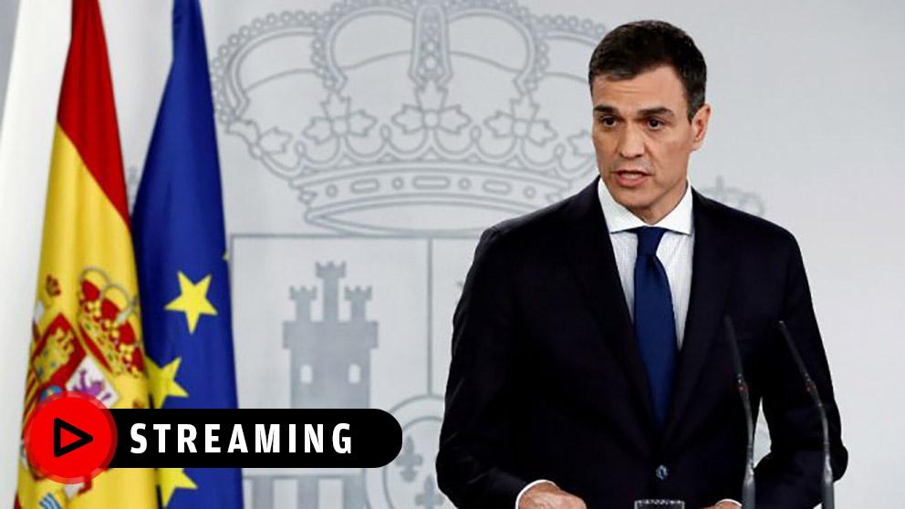 Comparecencia de Pedro Sánchez, streaming en directo