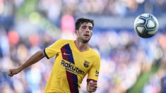 Sergi Roberto, durante un partido con España. (AFP)