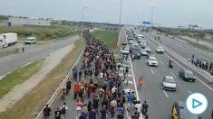Hordas de separatistas CDR camino del aeropuerto de El Prat.