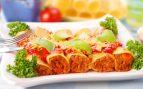 Receta de canelones de setas y zanahoria con bechamel de frutos secos