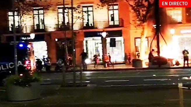 Última hora Cataluña, en directo: Disturbios, cargas policiales y altercados en las manifestaciones de hoy en Barcelona