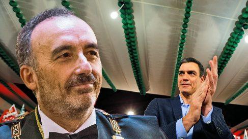 Manuel Marchena, presidente del tribunal que ha juzgado a los golpistas, y Pedro Sánchez, presidente del Gobierno