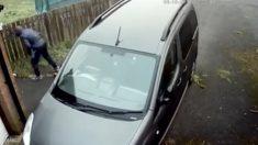Facebook: Intenta robar un coche y acaba con un ladrillo en la cabeza