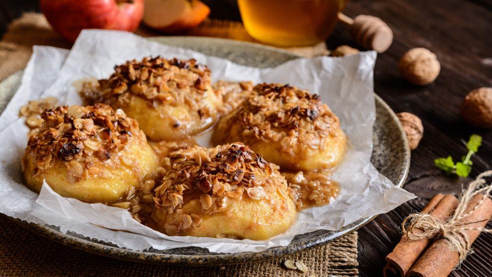 Receta de Manzanas asadas con miel