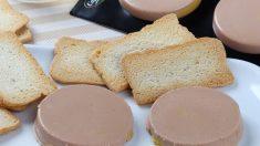 Receta de Mousse de foie y turrón