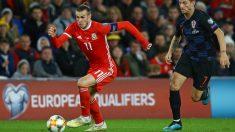 Bale, en el Gales-Croacia. (AFP)