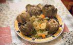 Alcachofas rellenas de jamón y boniato