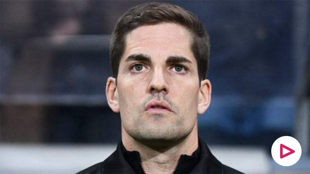 Robert Moreno, durante un partido. (AFP)