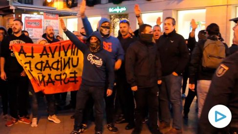 Tensión en la manifestación independentista de Madrid.