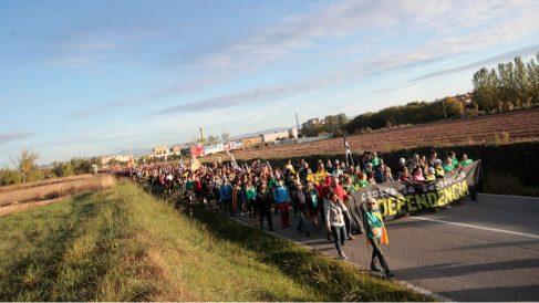 Vista general de la marcha desde Vic Barcelona
