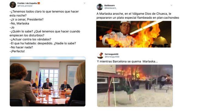 Alguno de los memes sobre la cena de Fernando Grande-Marlaska.