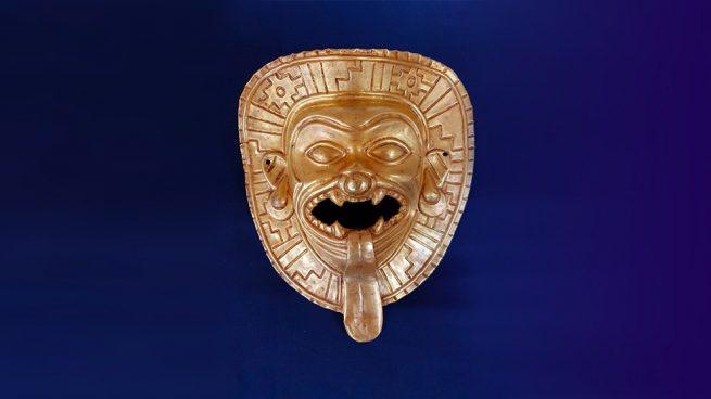 La máscara de Tumaco, expoliada en Colombia y recuperada en el aeropuerto de Madrid. Foto: EP
