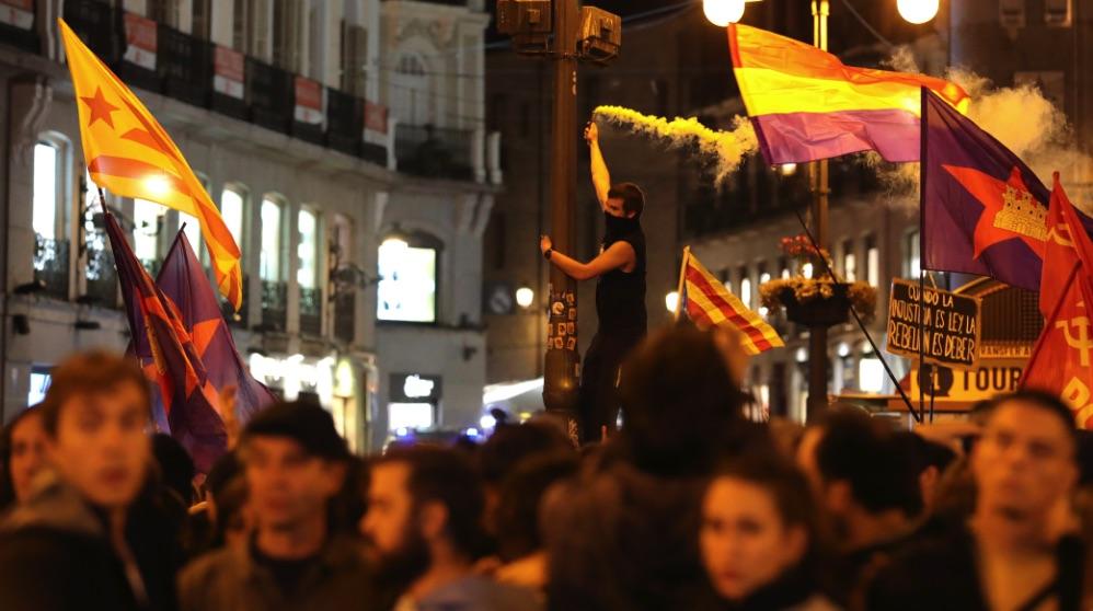 Movilización en Madrid a favor de los líderes del procés. (Foto. EFE)