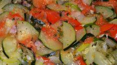 Receta de Calabacín en ensalada con vinagreta
