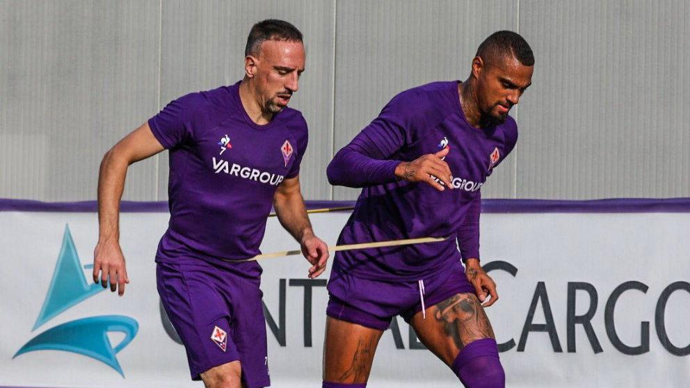Franck Ribery con Boateng (@FranckRibery?